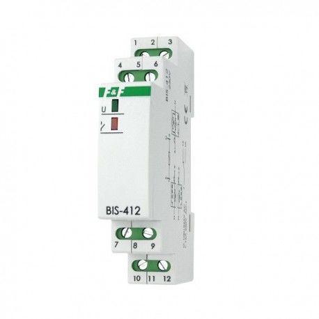 BIS-412 230V 16A Przekaźnik bistabilny impulsowy grupowy F&F 6226
