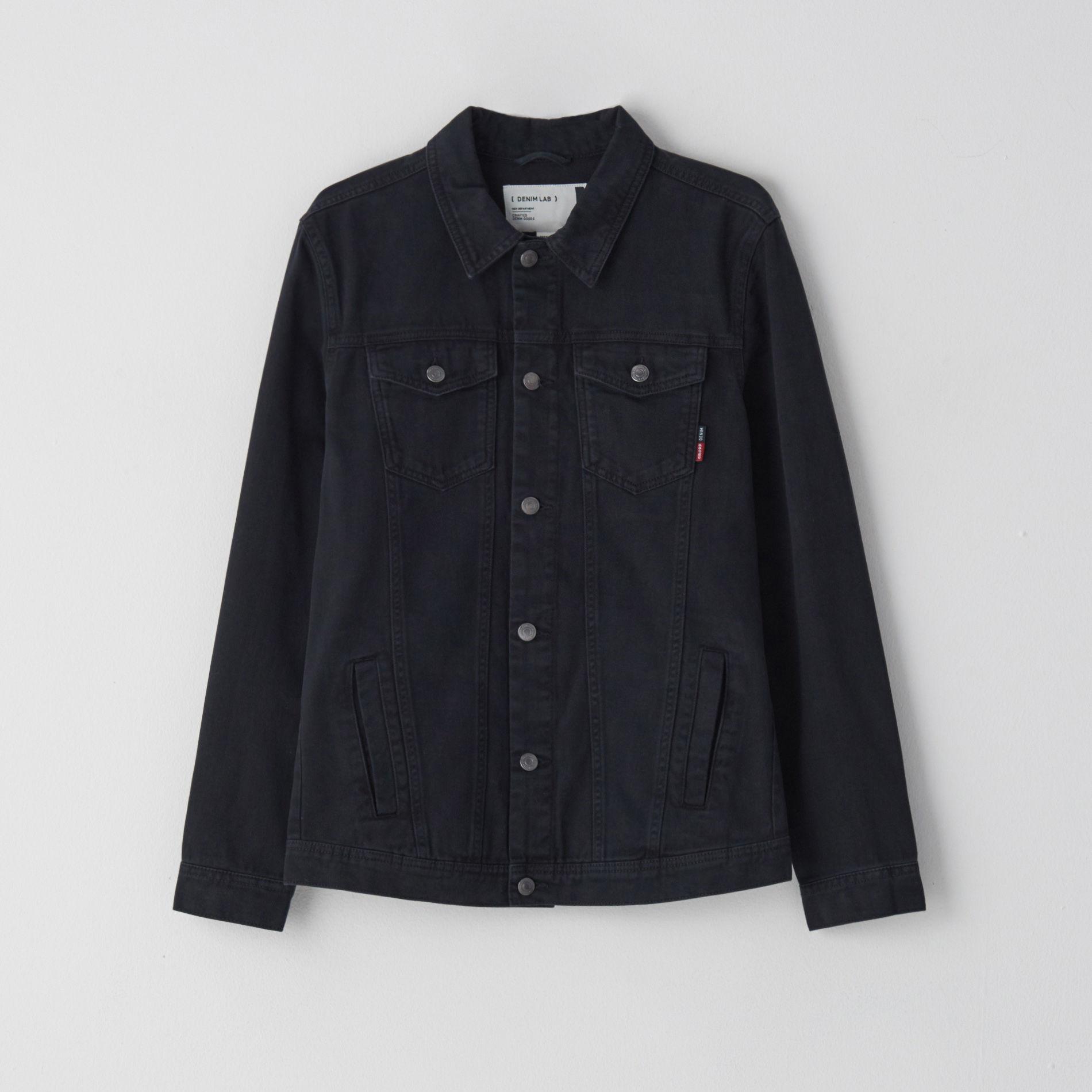 Cropp - Kurtka jeansowa - Czarny