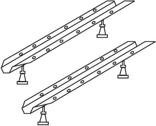 Ravak stelaż do wanny asymetrycznej 10  ( 10 stopni) GPX2240396