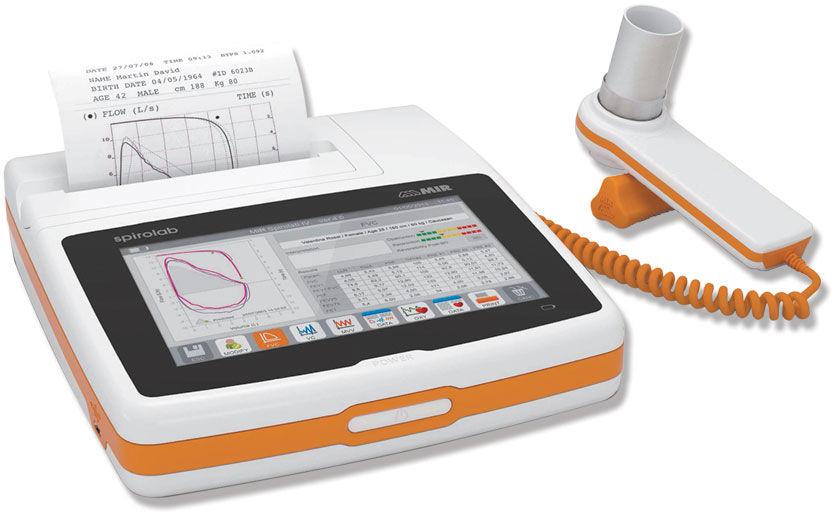 SPIROLAB COLOUR SPIROMETER Spirometr z wyświetlaczem i drukarką