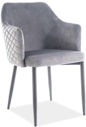 Krzesło ASTOR VELVET szare