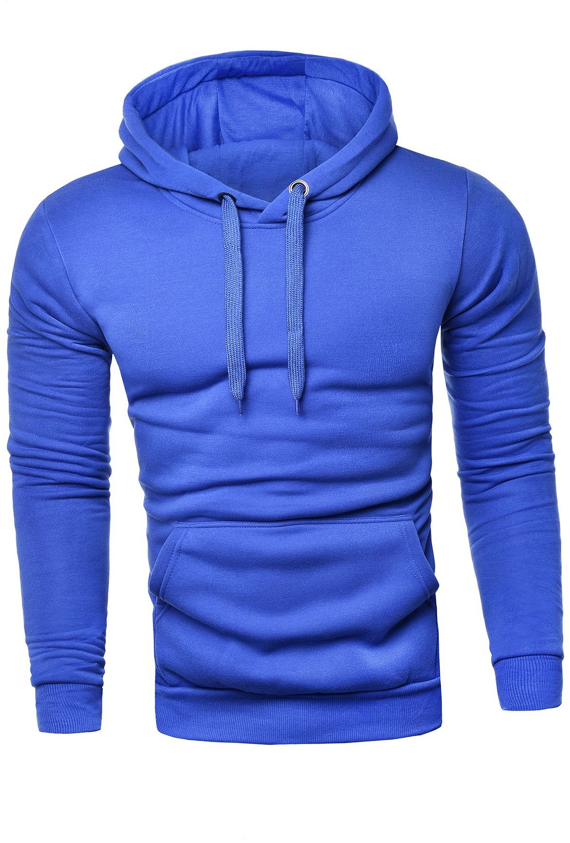 Męska ciepła bluza sg1 - kobaltowa