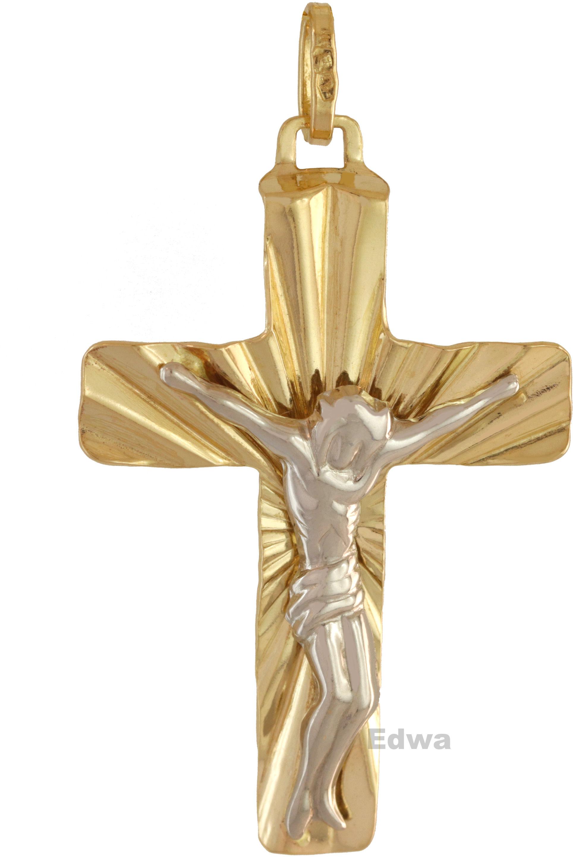Zawieszka złota Krzyż pr.585