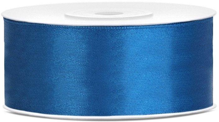 Tasiemka satynowa 25mm niebieska 25m 1szt. TS25-001