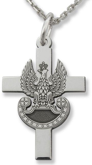 Krzyżyk srebrny z orzełkiem wojskowym kr-10