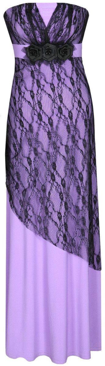 Sukienka FSU141 FIOLETOWY