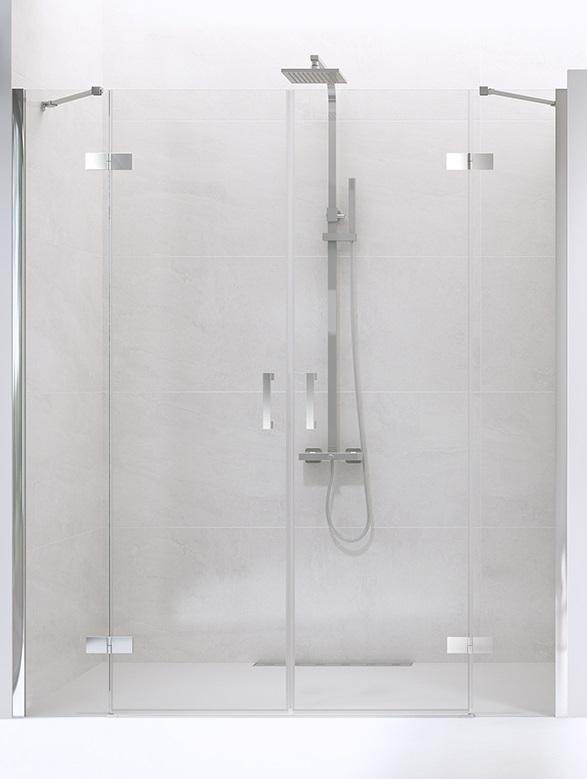 New Trendy New Renoma drzwi wnękowe 190x195 cm przejrzyste D-0099A/D-0100A ___ZAPYTAJ O RABAT!!___