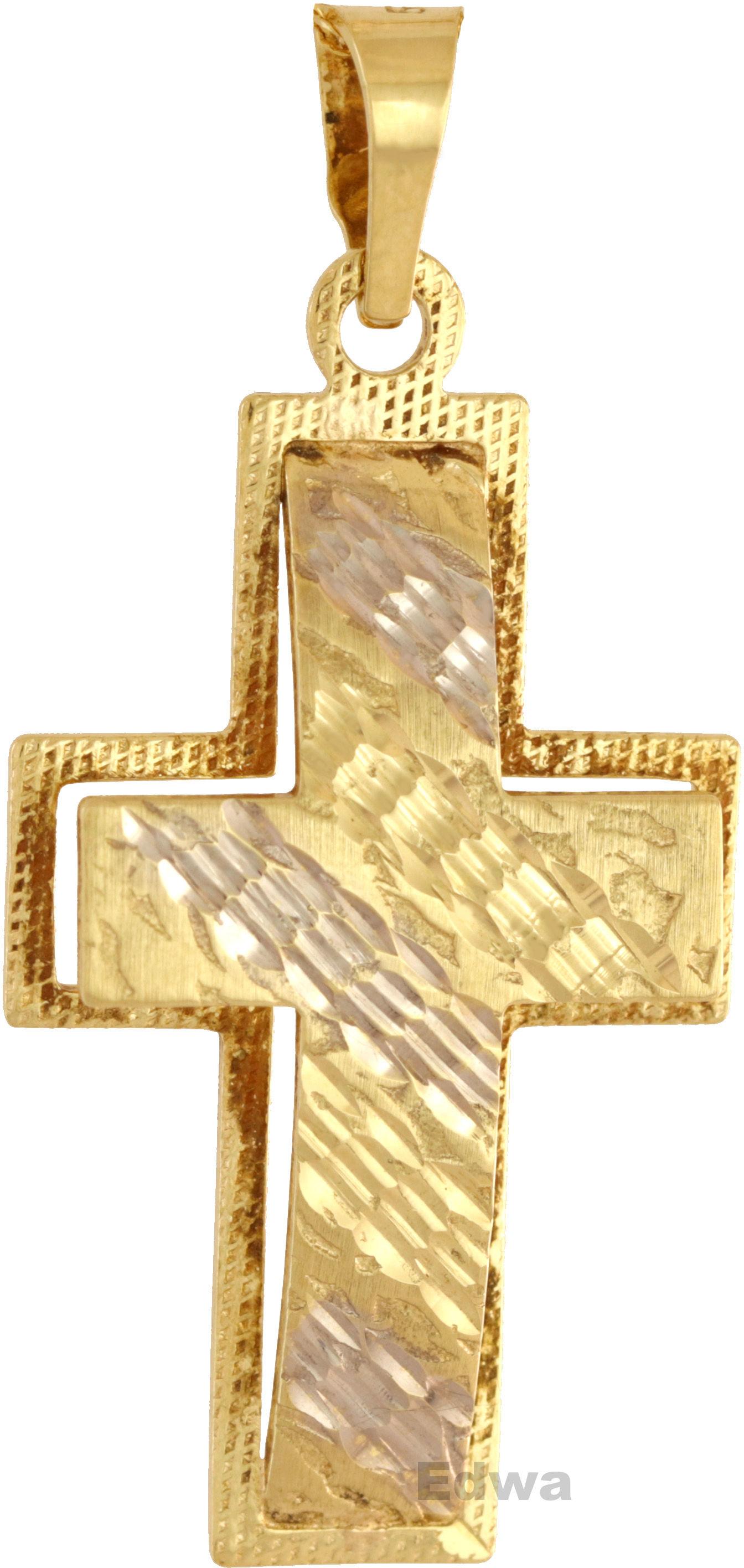 Zawieszka złota Krzyż pr. 585