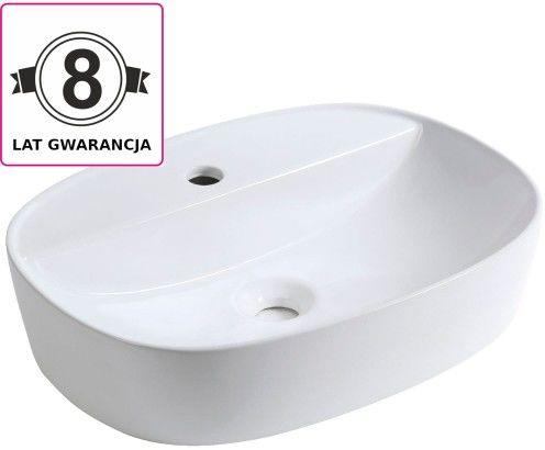 Umywalka nablatowa 50,5x38x12 cm ceramiczna ,biały półmatowy
