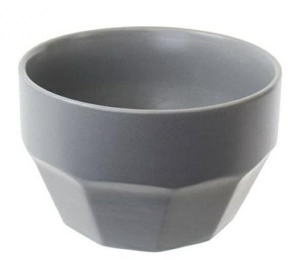 Miska ceramiczna Rahm 450ml szara ciemna