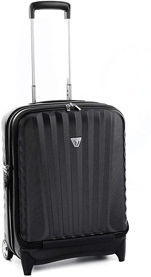 Roncato Wózek biznesowy PC 17 cali twarda powłoka Uno Biz - bagaż podręczny cm. 53 x 40 x 20/24 pojemność 40/48 L, organizer wewnętrzny, zamek TSA, zatwierdzony do Easyjet Ryanair, gwarancja 2 lata