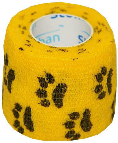 StokBan 5 x 450cm-łapki na żółtym Bandaż elastyczny samoprzylepny