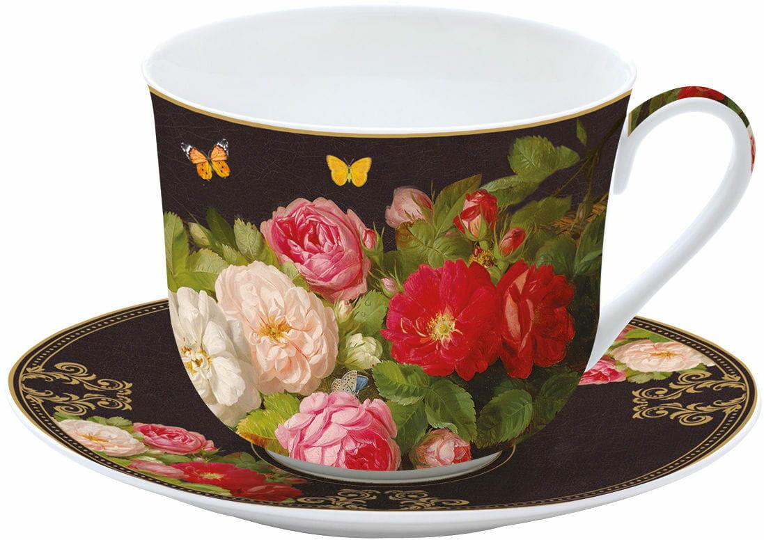 Easy Life/Nuova R2S, filiżanka śniadaniowa VICTORIAN GARDEN, kwiaty