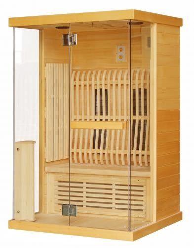 LUNA Sauna na podczerwień 2-osobowa 123,6x103,6x200 cm H30330