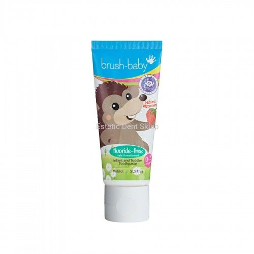BRUSH-BABY FLUOR FREE Strawberry - pasta do zębów dla dzieci bez fluoru o smaku truskawkowym (0-2 lat) 50ml