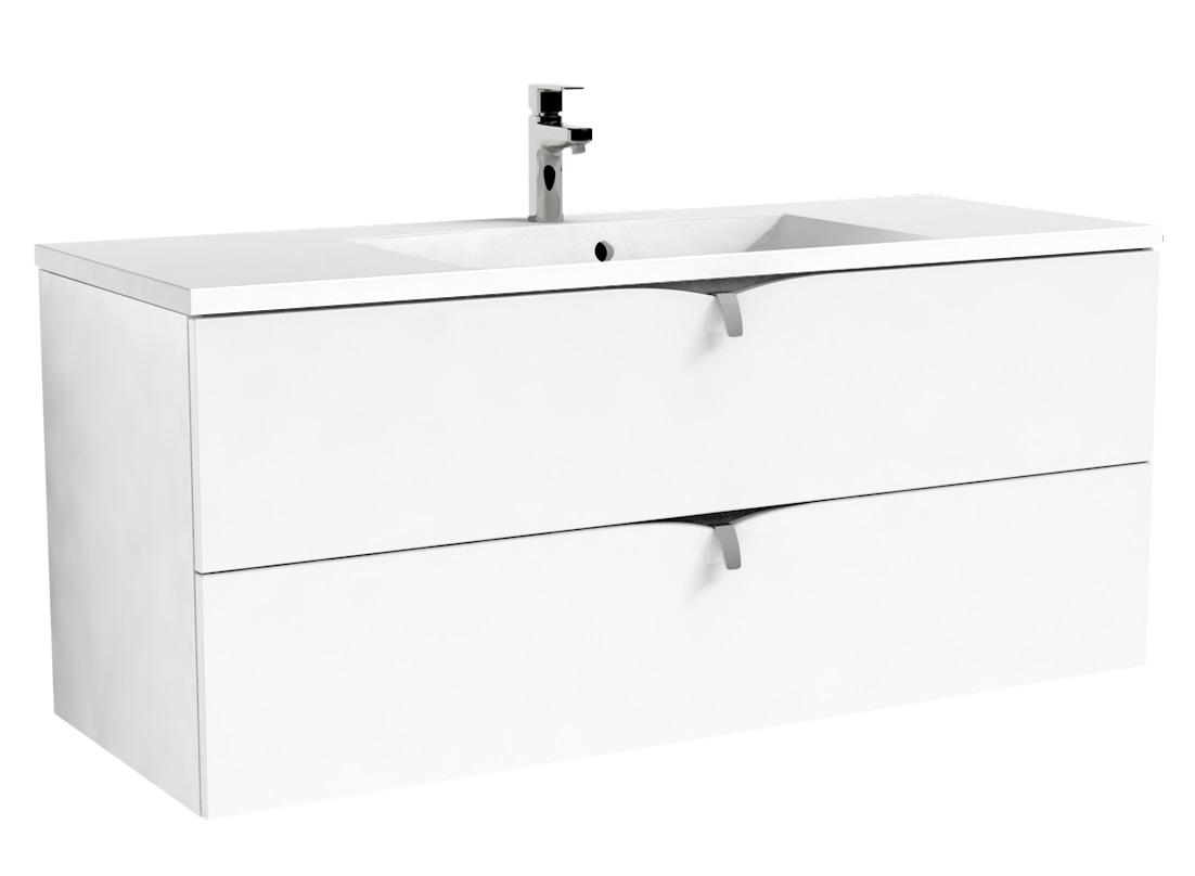 Oristo Siena szafka podumywalkowa wisząca 120x50x45cm biały połysk OR45-SD2S-120-1