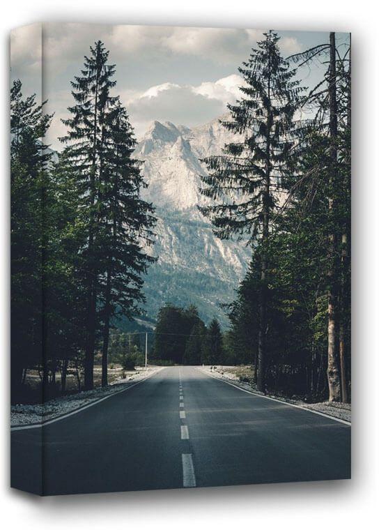 Droga w góry - obraz na płótnie wymiar do wyboru: 30x40 cm