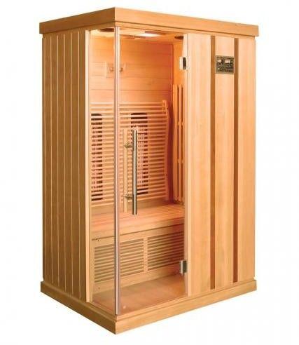 TRENDY Sauna na podczerwień 2-osobowa 123x103x190 cm H30380