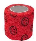 StokBan 5 x 450cm-emotki na czerwonym Bandaż elastyczny samoprzylepny