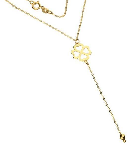 Złoty naszyjnik 333 krawatka z koniczynką 0,98 g
