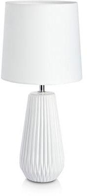 Lampa stołowa Nicci 106623 Markslojd biała lampa stołowa z abażurem
