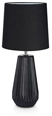 Lampa stołowa Nicci 106624 Markslojd czarna lampa stołowa z abażurem