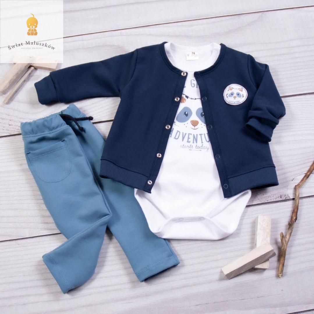 Komplet body, bluza i spodnie Szop Pracz KAREN r.62-86