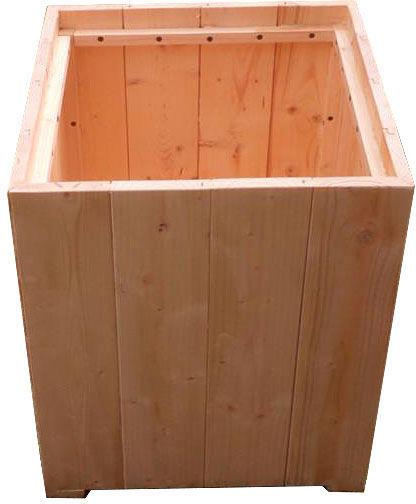 Kwadratowa drewniana donica ogrodowa - Monato