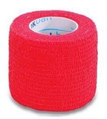 StokBan 5 x 450cm-czerwony Bandaż elastyczny samoprzylepny