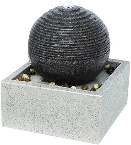 Zen''Light SCFR19-C4 fontanna pokojowa, żywica syntetyczna, szara, 30 x 30 x 34 cm