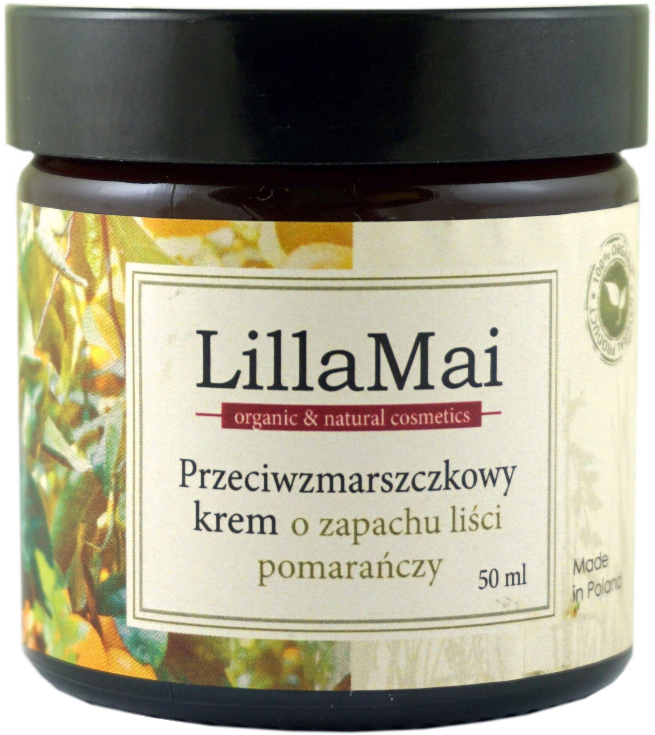 Przeciwzmarszczkowy Krem o Zapachu Liści Pomarańczy - 50 ml - LillaMai