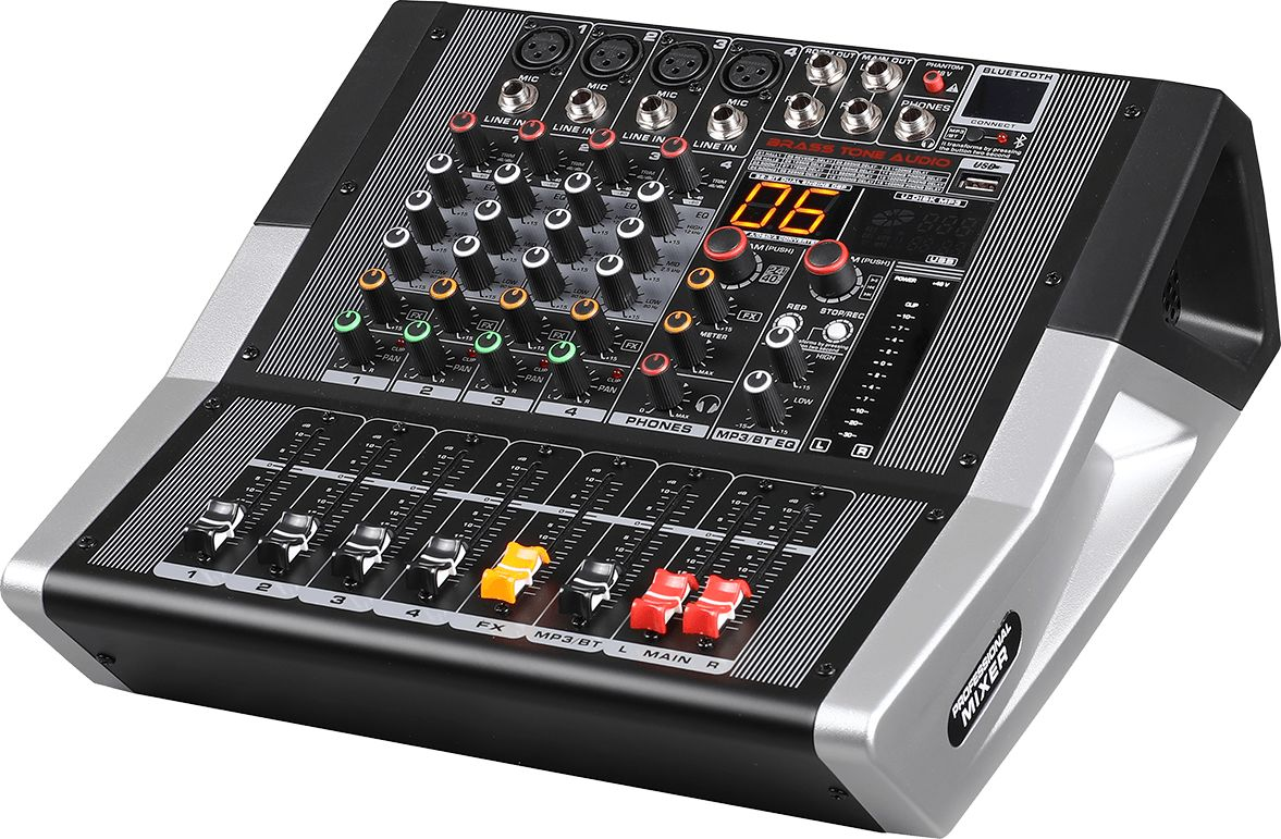 Mikser Brass Tone Audio 4K 2X200W BTA1204