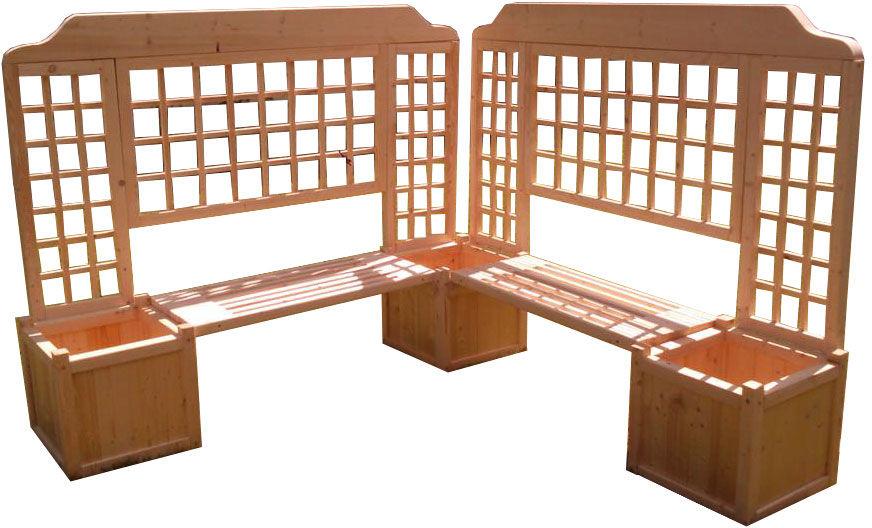 Drewniana donica ogrodowa z siedziskiem - Navara