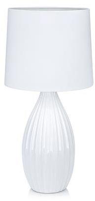 Lampa stołowa Stephanie 106887 Markslojd biała lampa stołowa z abażurem