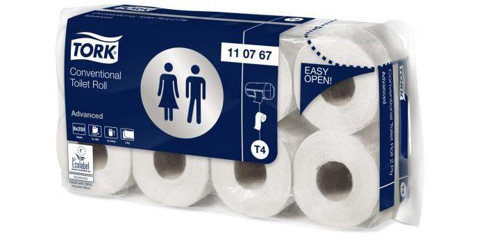 Papier toaletowy w rolce konwencjonalnej, Tork Advanced biały
