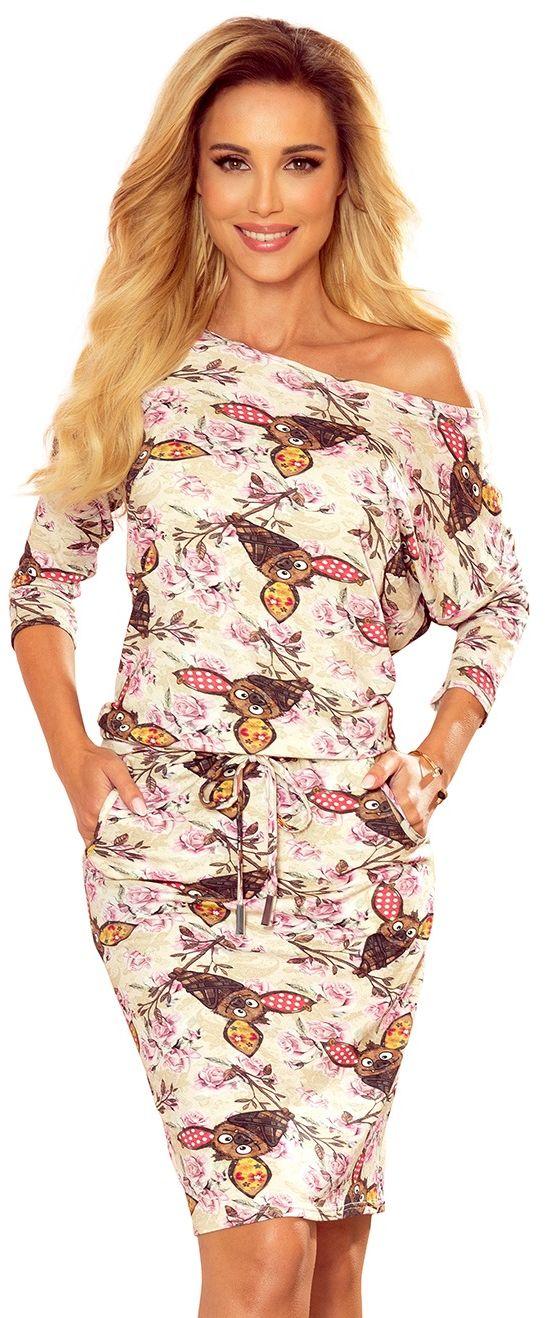 Dzianinowa sukienka - nietoperze