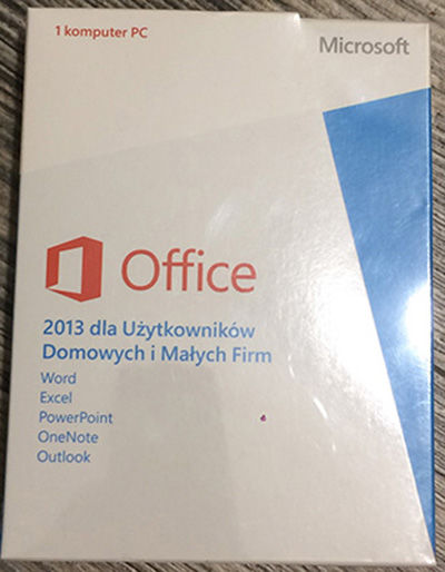 Microsoft Office 2013 Dom i Firma (Home and Business) PKC-BOX PL