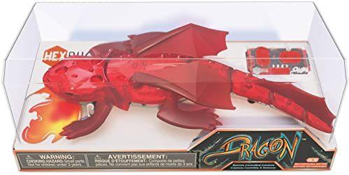 HEXBUG Smok zdalnego sterowania - ładowalna zabawka dla dzieci - regulowana figurka z dinozaurem - kolory mogą się różnić