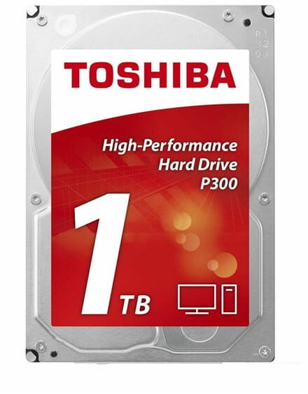 "Toshiba HD3.5"" SATA3 1TB P300 High Perform./7.2k Puffer: 64Mb"