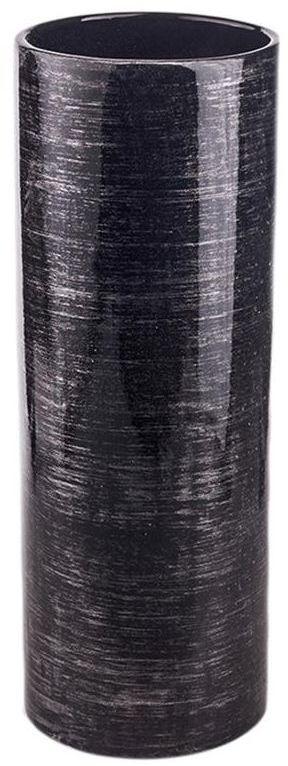 Wazon ceramiczny Rura wys. 31 cm czarny