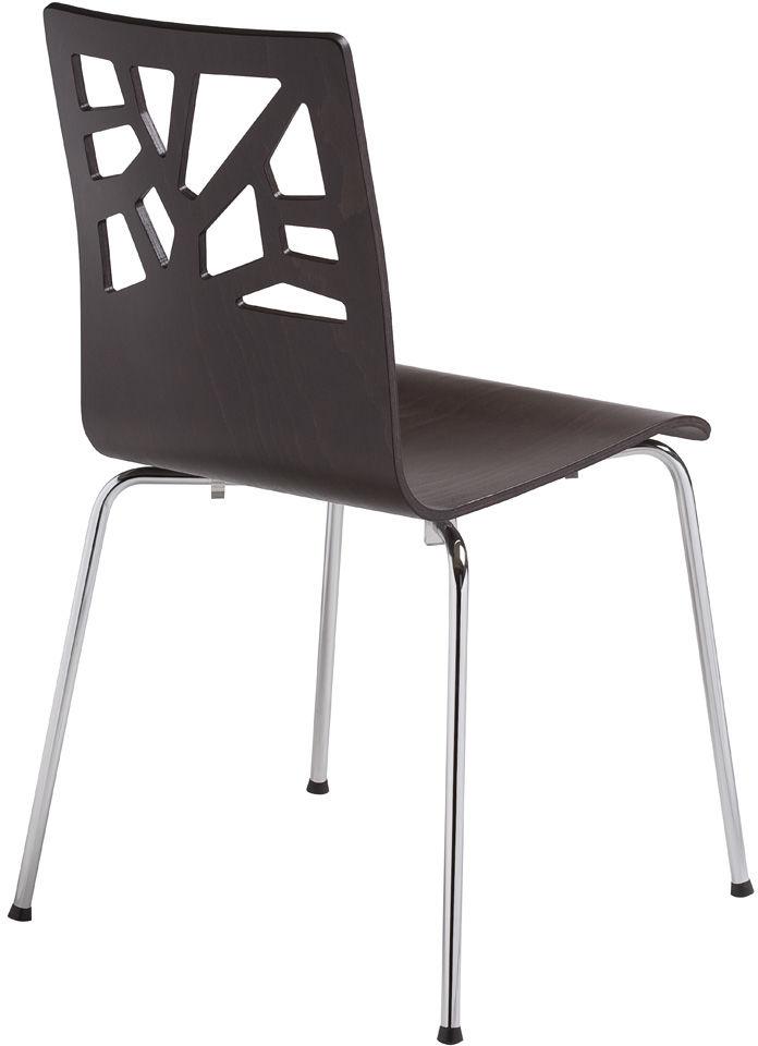 NOWY STYL Krzesło VERBENA alu/black