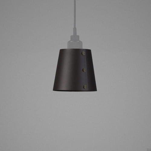 Lampa Small Shade - Grafitowa z mosiądzem [S001]