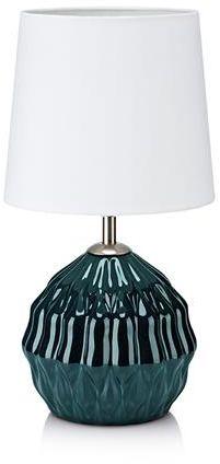 Lampa stołowa Lora 106882 Markslojd zielona lampa stołowa z białym abażurem