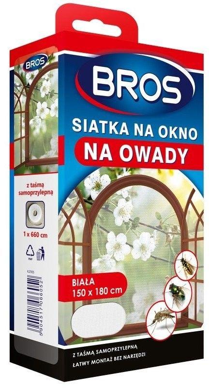 Bros Siatka na okno na owady biała 150 x 180 cm