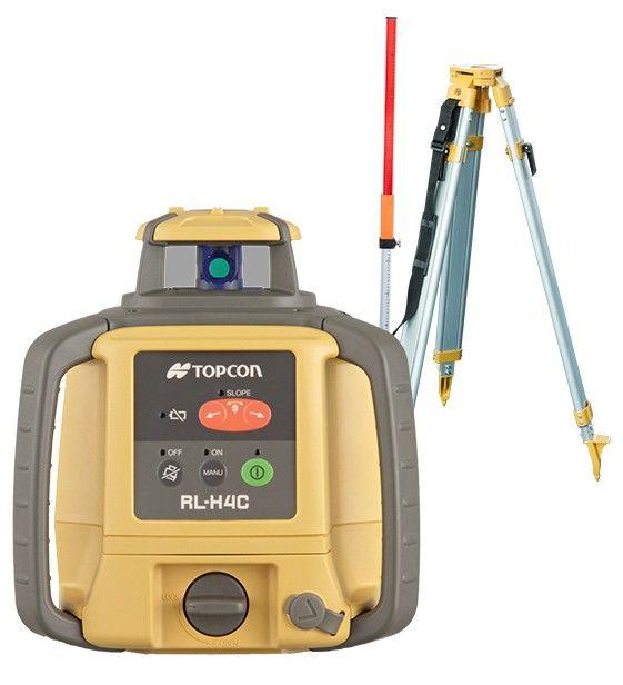 Niwelator laserowy Topcon RL-H4C + Statyw + Łata Zestaw