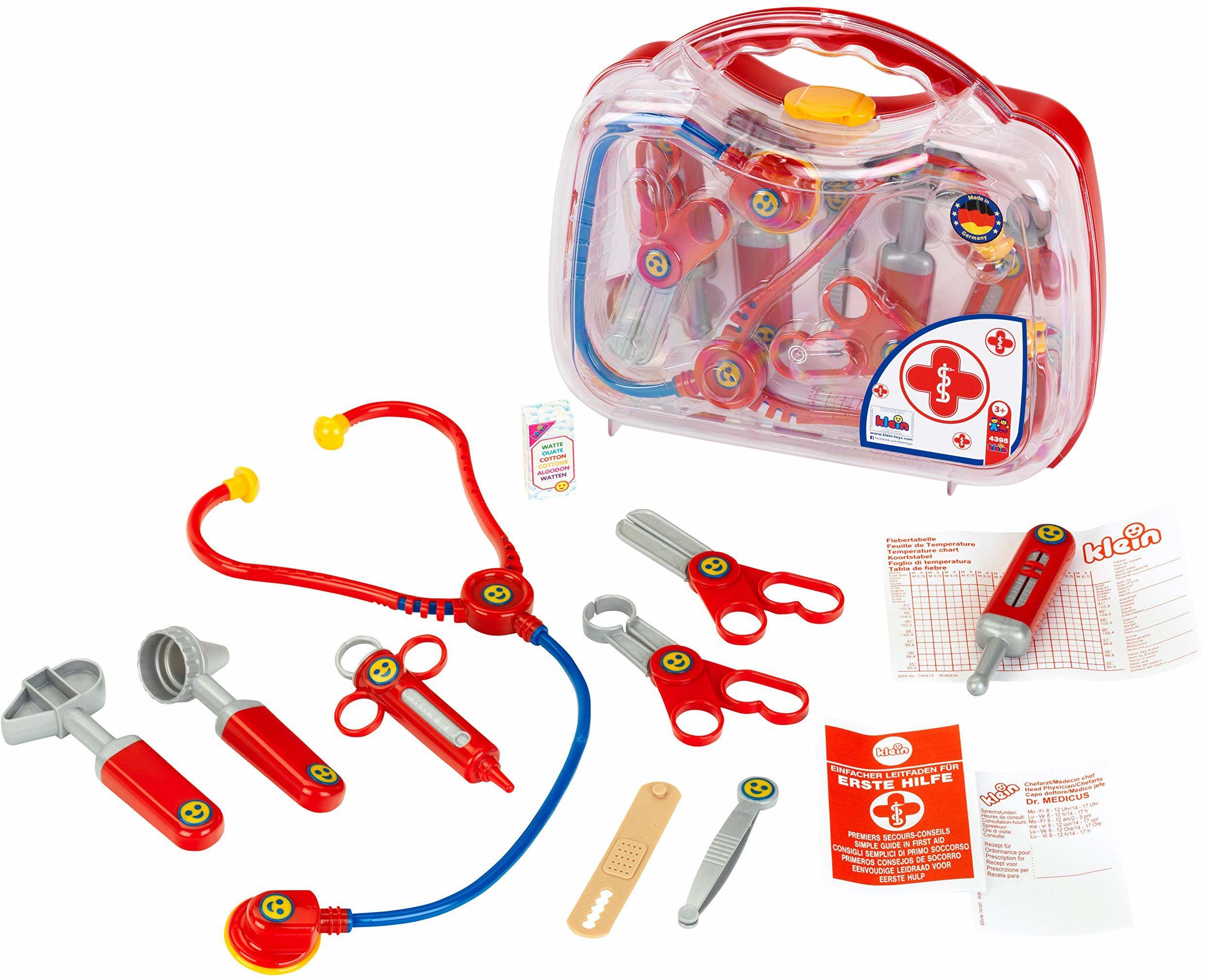 Theo Klein 4395 Rescue Team Max & Dr. Kim Doctor etui przezroczyste, zabawka, wielokolorowe