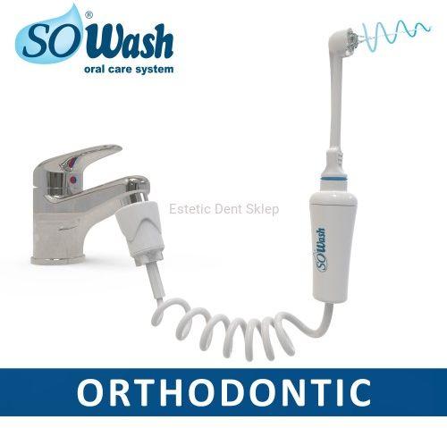 SoWash ORTHODONTIC - irygator stomatologiczny do czyszczenia aparatów ortodontycznych z OPATENTOWANYM SYSTEMEM WIRU