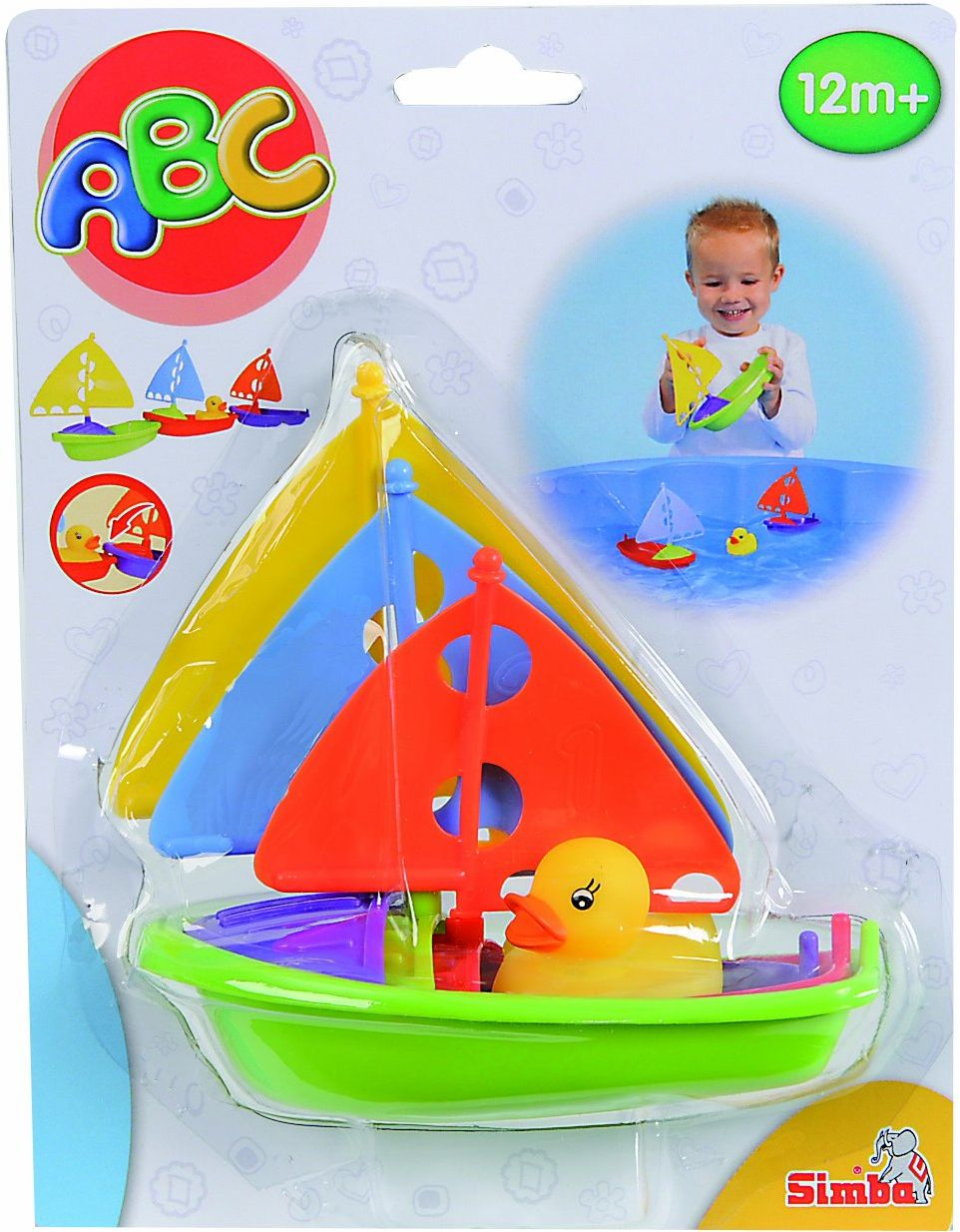 Simba 104012731 - ABC łódki żaglowe, 3 szt. w opakowaniu z kaczką
