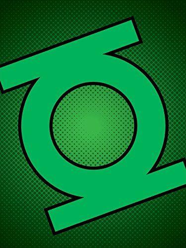 """DC Comics """"Zielona latarnia symbol"""" nadruk na płótnie, 60 x 80 cm"""