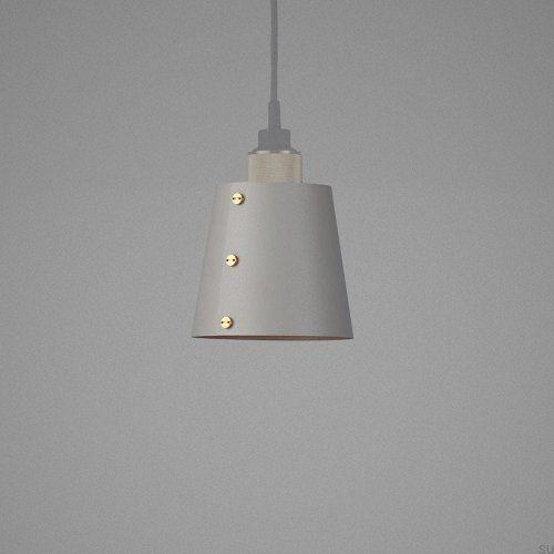 Lampa Small Shade - Szara z mosiądzem [S101]